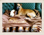 "Dog Bed - Faux Chinchilla Fur Snuggle Sack - 18"" x 20"""
