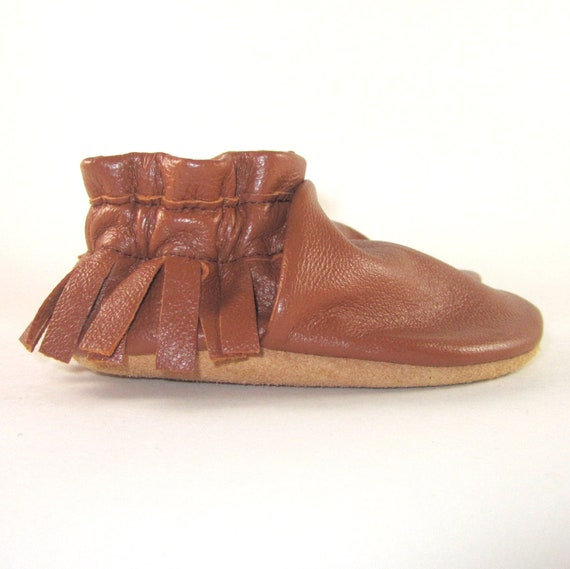 Soft Sole Eco Friendly Leather Baby Shoes Moccasins 6 to 12 Month