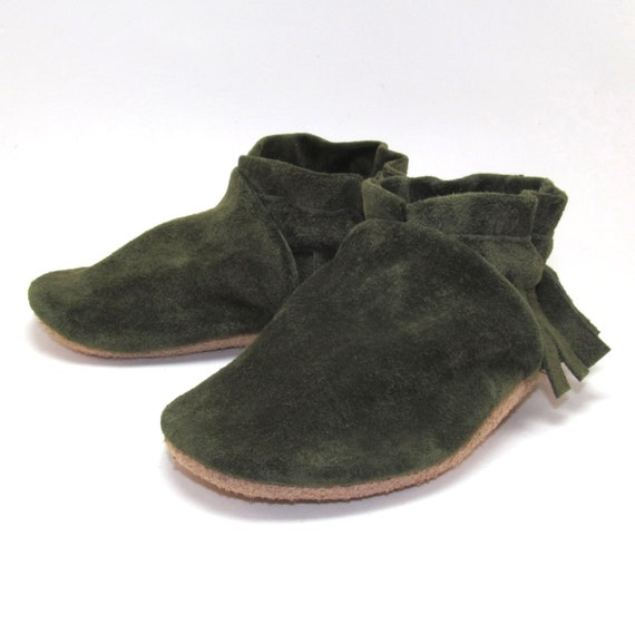 Leather Baby Shoes Moccasins Soft Sole Eco Friendly 6 to 12 Month