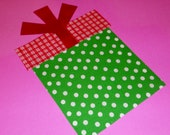 Fabric Applique TEMPLATE ONLY Birthday Or Christmas Gift BOX And Lid With Bow...New