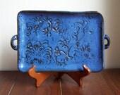 Blue Stoneware Party Tray