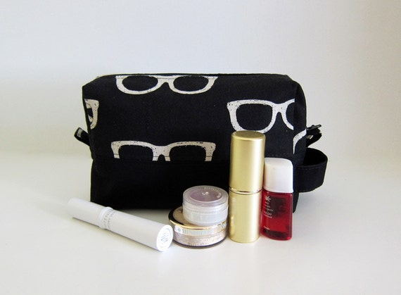 Reserved Medium Box Pouch --  ECHINO Cosmetic bag