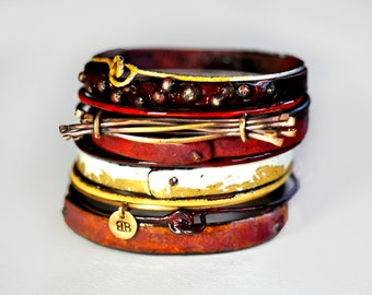 Handmade Enamel Bangle Set - Enamel Bangle Set - Tellicherry
