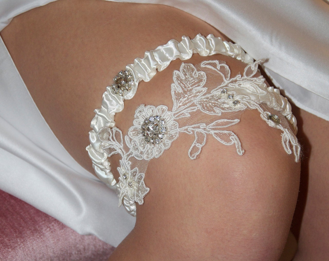 Wedding Garter Set Tossing Garter Bride By GartersByGarterLady