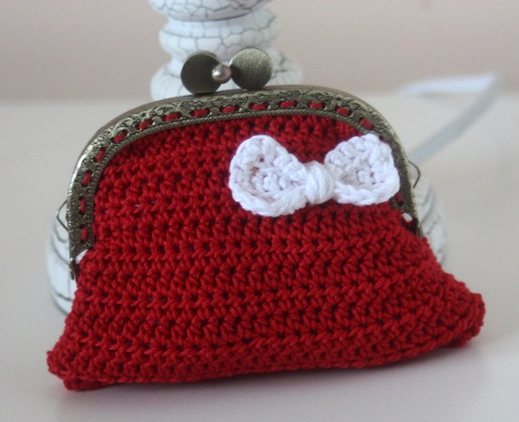Custom Order for Goose Coin Purse Crochet - Red x2