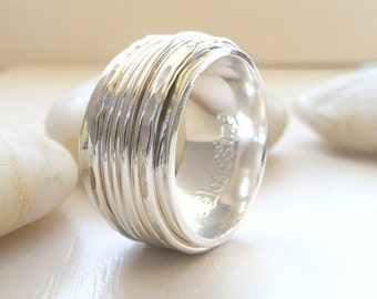 Sterling Silver Spinner Rings by Stilosissima California