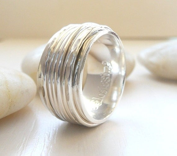 Sterling Silver Spinner Rings by Stilosissima California, Worry Ring, Anxiety Ring, Meditation Ring