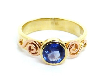 Blue Sapphire Ring 14 K Gold