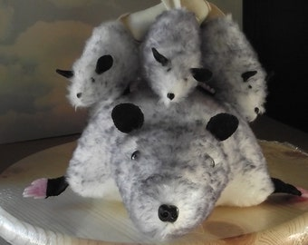 Opossum and Babies Stuffed Animal Pattern Instant Download to Sew