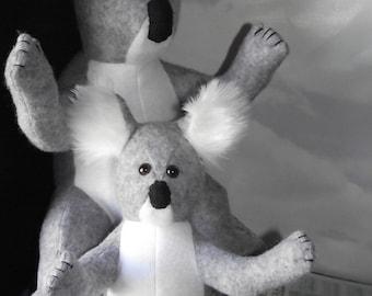 Koala and Baby Koala Stuffed Animal Pattern to Sew Instant Download