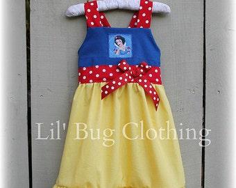Snow White Girls Dress, Snow White Girl Costume, Snow White Girl Birthday Dress, Snow White Boutique Girl Outfit Dress