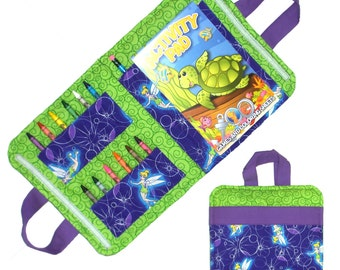 Art Travel Caddy - Made From Tinkerbell Fabric - (Includes All Supplies Shown)