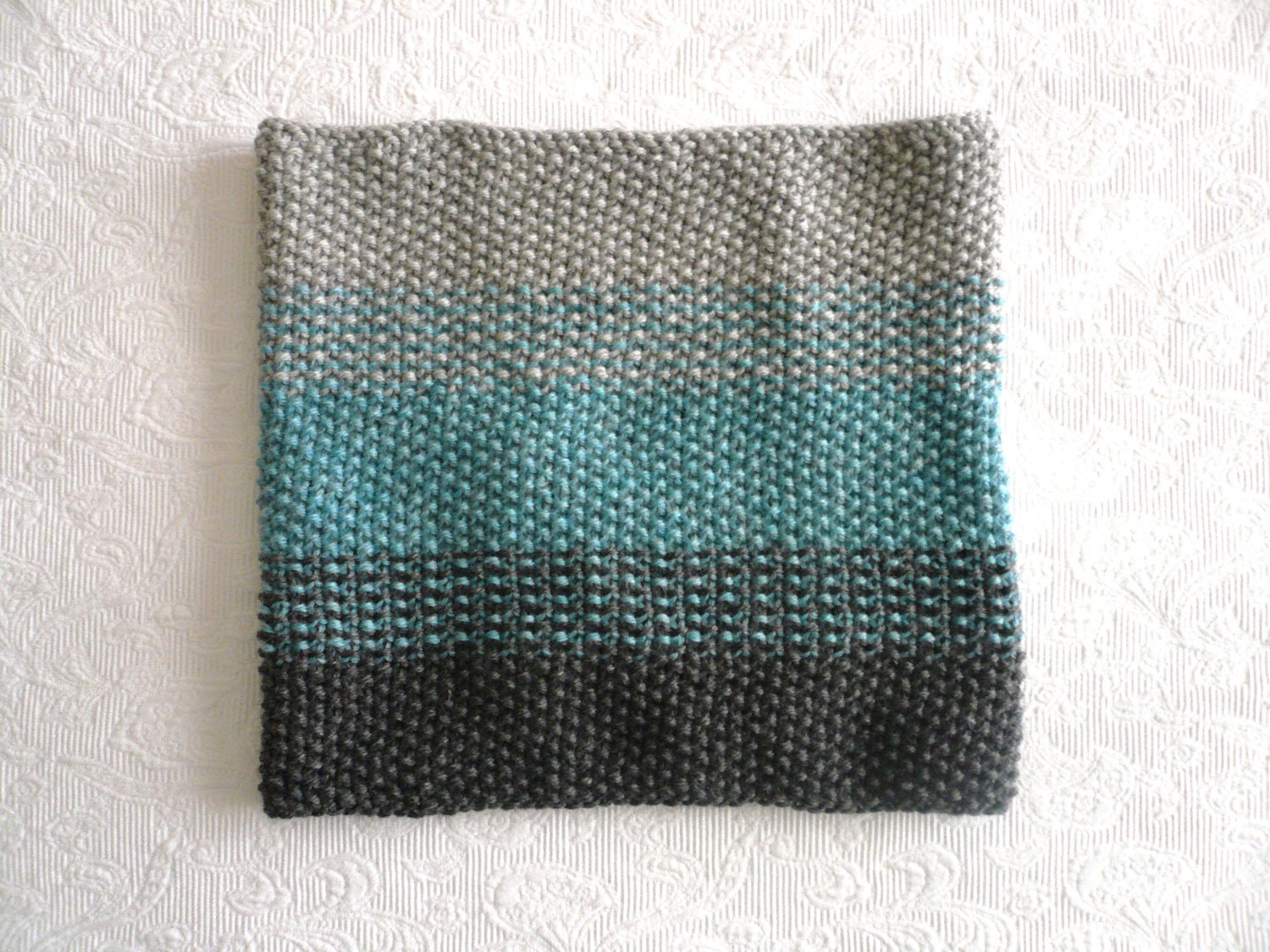 ombre cowl HAND knit
