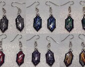 One Pair of Rupee Earrings, made to order, double-sided, 6 colors to choose from