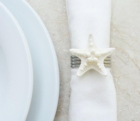 Items similar to starfish napkin ring holder beach home decor on etsy - Coastal napkin holder ...