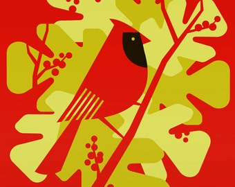 cardinal large limited edition print