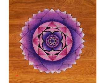 Purple Lotus Print