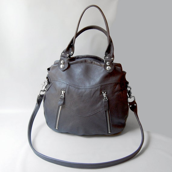 Medium Larch bag in graphite - custom bag for Jane