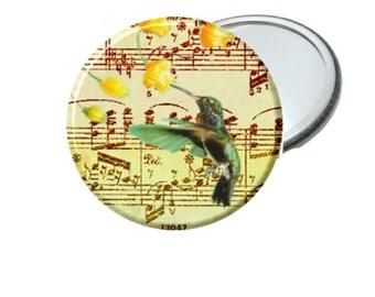 Mirror - Music Sheet Humming Bird Image