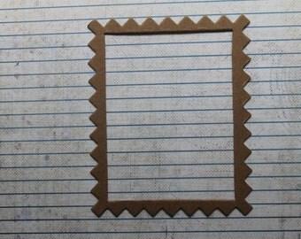 3 Bare  chipboard  Zig Zag Frame Die cuts Rectangular frame