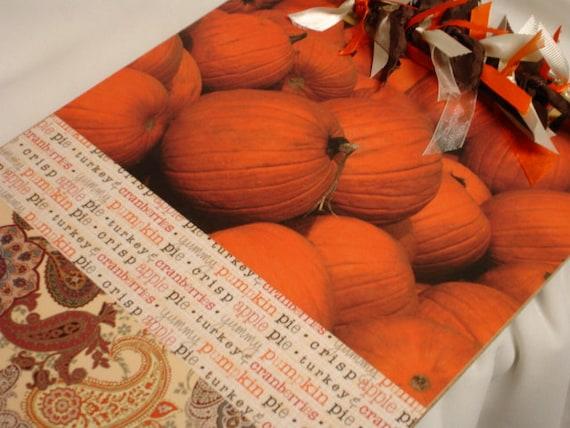AUTUMN CLIPBOARD Pumpkins and Paisley