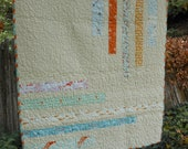 sand - beach baby quilt for boy or girl