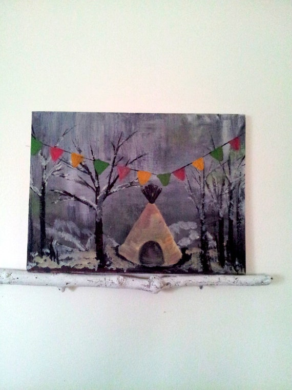 A Winter Celebration Original Art on Canvas