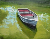 Print Boat 17 16x20inch print of oil painting by Roz