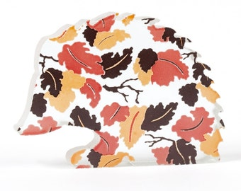 Autumn Leaves Hedgehog Glass Sculpture