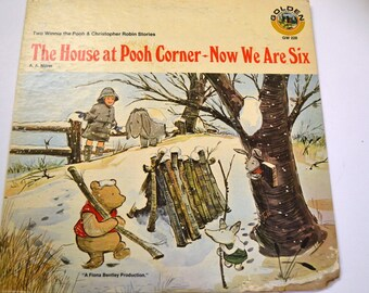 Vintage Winnie The Pooh Album Cover Wall Hanging
