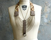 """Woven Cord, Suede and Chain """"Braid"""" Necklace"""