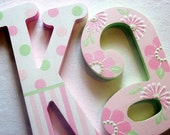 SWEET DREAMS Custom Hand Painted Decorative Wooden Wall Letters