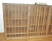 Printers Wooden Tray  Hamilton Wood Typesetter Drawer