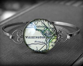 Washington DC Bracelet - Vintage Map