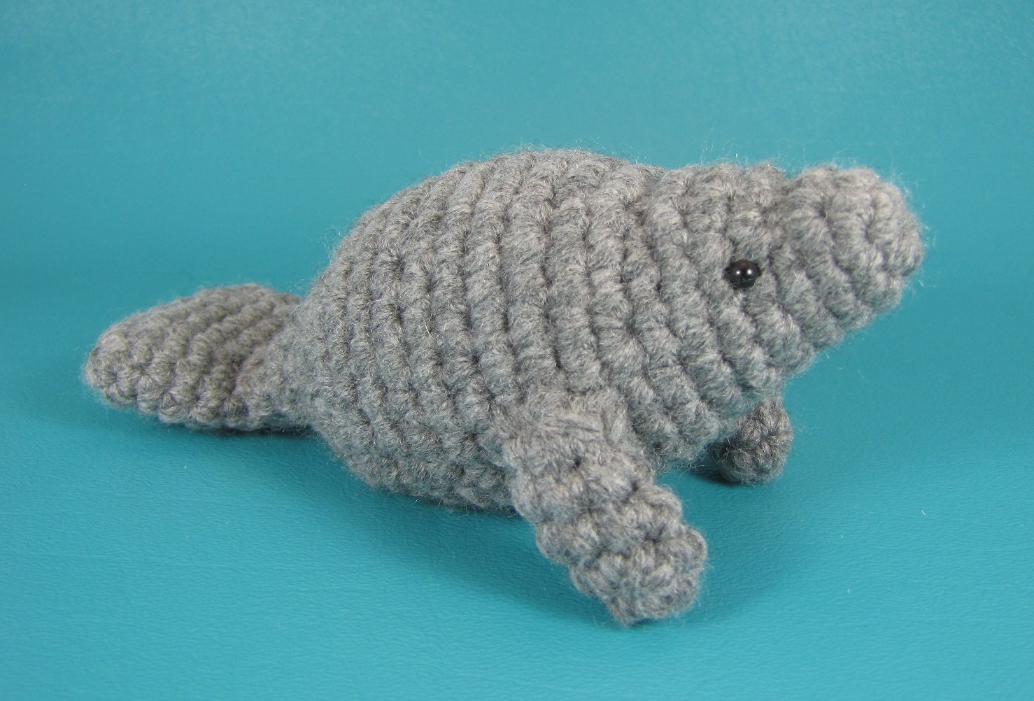 Manatee PDF amigurumi crochet pattern