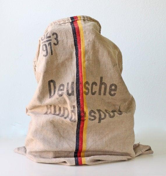 Vintage German Mail Bag - Deutsche Bundepost