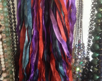 PRISM CHARMEUSSE handdyed ribbon color TAPESTRY 68yds