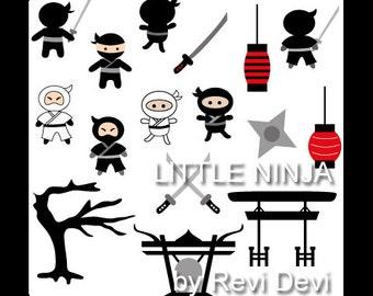 Cliparts Little Ninja 07013