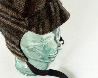 Wool Aviator Hat in Black and Tan : Men, Women, Kids, Hat - Amelia