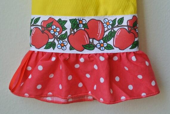 Designer Rubber Dish Gloves - Apples, Flowers, Polka Dots - Medium