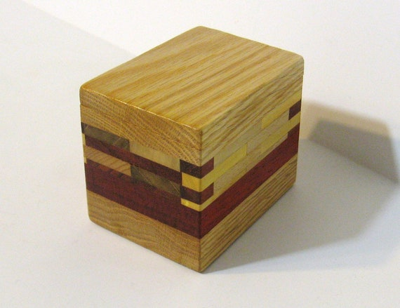 Trinket Box Made Of Five woods