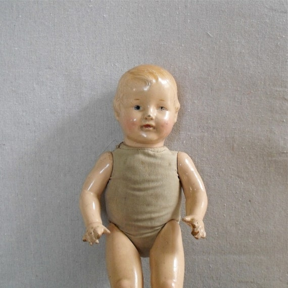 Vintage Composition Doll : EIH Co, Spooky and Cute