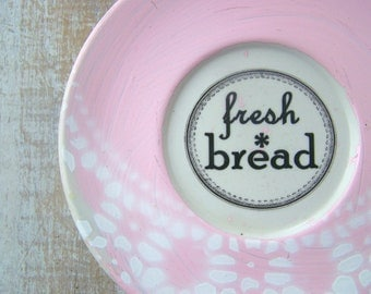 Pink Kitchen // Vintage Bread Sign //  Shabby Chic // Bake  Sign // French Country Kitchen Wall Decor // Vintage Bakery Sign //  FRESH BREAD