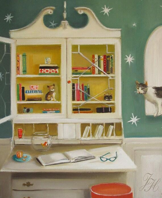 Cat Burglar- Print From Original Oil Painting