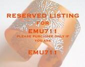 Reserved Listing Tangerine Cuff Bracelet Reserved for emu711