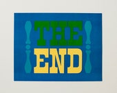 """Vintage """"The End"""" poster"""