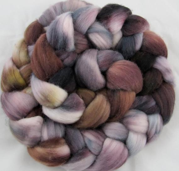Merino Hand Painted  Wool Roving - Geode