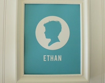 Personalized Silhouette Print - completely custom silhouette - made from your photos by Simply Silhouettes