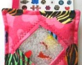 I Spy Bag - Mini with Sewn Word List and Detachable Picture List- Zebra Hearts
