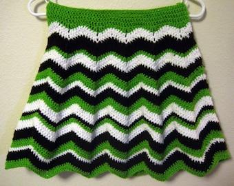 "Ripple Crocheted Skirt - ""Mint Chocolate"""
